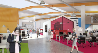 architectural visualisation, sky call centre